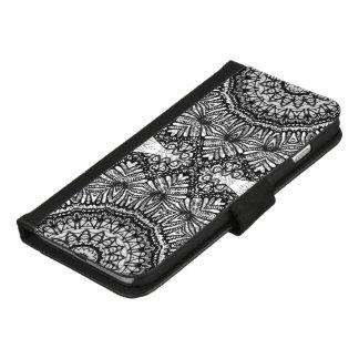 Coque Portefeuille Pour iPhone 8/7 Plus iPhone 8/7 mandala plus Mehndi G444 de caisse de