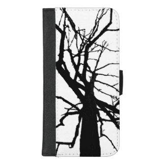 Coque Portefeuille Pour iPhone 8/7 Plus iPhone blanc noir d'arbre 8/7 caisse plus de