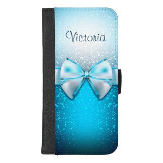 Coque Portefeuille Pour iPhone 8/7 Plus iPhone bleu moderne de parties scintillantes 8/7