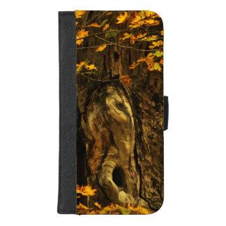Coque Portefeuille Pour iPhone 8/7 Plus iPhone d'arbre de Brown d'automne 8/7 caisse plus