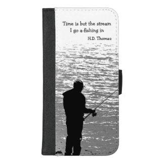 Coque Portefeuille Pour iPhone 8/7 Plus iPhone de citation de pêche de Thoreau 8/7 caisse