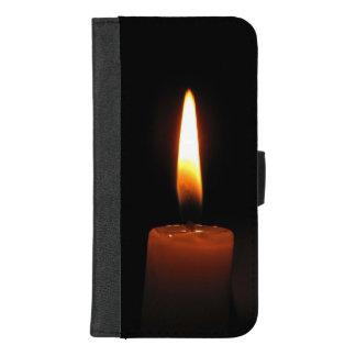Coque Portefeuille Pour iPhone 8/7 Plus iPhone de flamme de bougie 8/7 caisse plus de