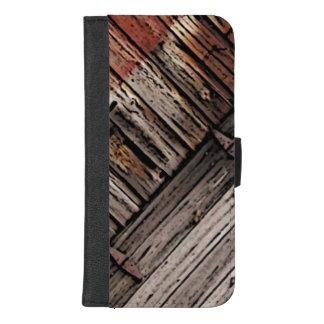 Coque Portefeuille Pour iPhone 8/7 Plus iPhone de motif d'abrégé sur en bois 8/7 caisse