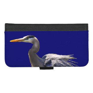 Coque Portefeuille Pour iPhone 8/7 Plus iPhone d'oiseau de héron de grand bleu 8/7 caisse