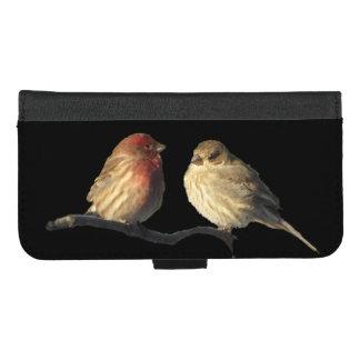 Coque Portefeuille Pour iPhone 8/7 Plus iPhone d'oiseaux de pinson de Chambre 8/7 caisse