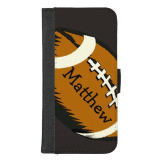 Coque Portefeuille Pour iPhone 8/7 Plus iPhone du football de Brown de sports 8/7 caisse