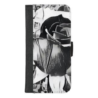 Coque Portefeuille Pour iPhone 8/7 Plus iPhone noir et blanc de rose 8/7 caisse plus de