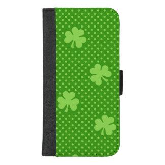Coque Portefeuille Pour iPhone 8/7 Plus Jour vert de Patricks de saint de motif de trèfle