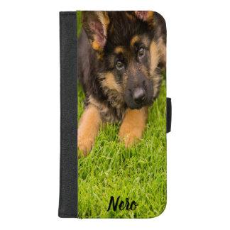 Coque Portefeuille Pour iPhone 8/7 Plus Le chien ajoutent votre photo et l'appellent