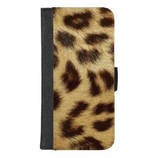 Coque Portefeuille Pour iPhone 8/7 Plus Le léopard a repéré l'iPhone de luxe 8plus de