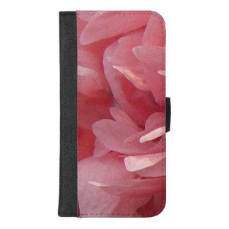 Coque Portefeuille Pour iPhone 8/7 Plus Le pavot rose fleurit l'iPhone 8/7 caisse plus de