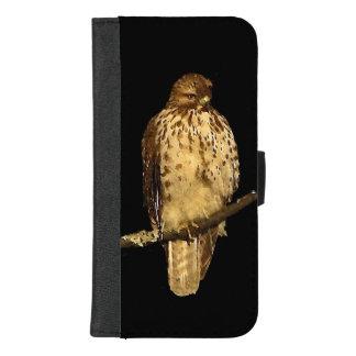 Coque Portefeuille Pour iPhone 8/7 Plus Le rouge a coupé la queue l'iPhone d'oiseau de