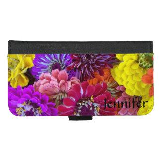 Coque Portefeuille Pour iPhone 8/7 Plus Les fleurs audacieuses personnalisent