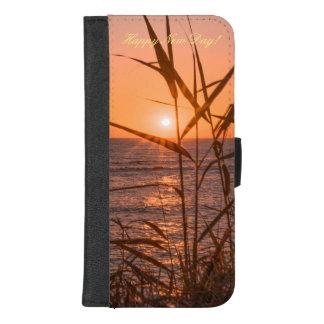 Coque Portefeuille Pour iPhone 8/7 Plus Lever de soleil au-dessus de la mer