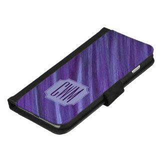 Coque Portefeuille Pour iPhone 8/7 Plus Lilas violet pourpre de monogramme indifférent de