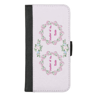 Coque Portefeuille Pour iPhone 8/7 Plus Mère de la jeune mariée - pays ©AH2017 floral