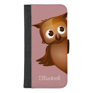 Coque Portefeuille Pour iPhone 8/7 Plus Monogramme drôle nommé fait sur commande mignon