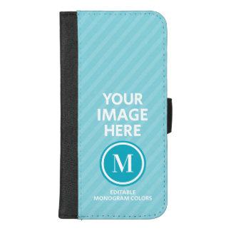 Coque Portefeuille Pour iPhone 8/7 Plus Monogramme fait sur commande de photo