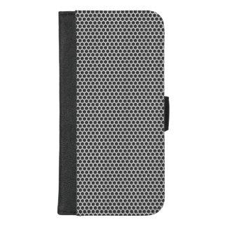 Coque Portefeuille Pour iPhone 8/7 Plus Motif argenté d'écran en métal