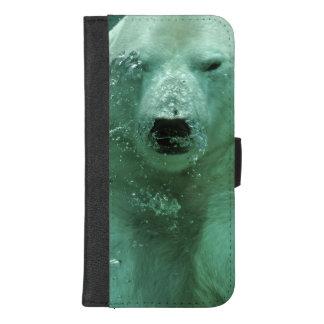 Coque Portefeuille Pour iPhone 8/7 Plus Ours blanc sous l'eau