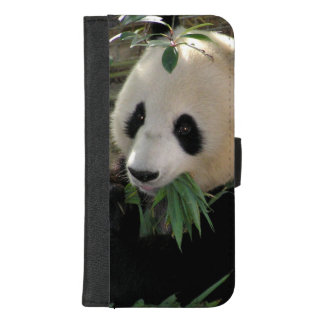Coque Portefeuille Pour iPhone 8/7 Plus Ours panda géant mignon