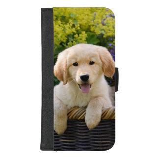 Coque Portefeuille Pour iPhone 8/7 Plus Photo drôle d'animal familier de chiot de chien de