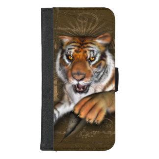 Coque Portefeuille Pour iPhone 8/7 Plus Sauvage au sujet des tigres