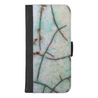 Coque Portefeuille Pour iPhone 8/7 Plus Série de pierre gemme - turquoise légère fendue