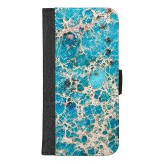 Coque Portefeuille Pour iPhone 8/7 Plus Série de pierre gemme - turquoise vintage