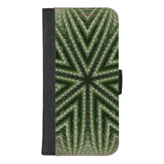 Coque Portefeuille Pour iPhone 8/7 Plus Symétrie de cactus