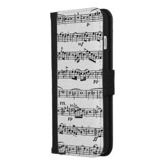 Coque Portefeuille Pour iPhone 8/7 Plus texture de toile de musique de feuille