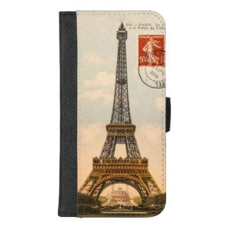 Coque Portefeuille Pour iPhone 8/7 Plus Tour Eiffel vintage
