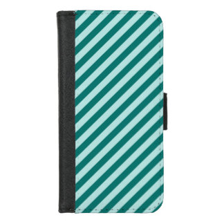 Coque Portefeuille Pour iPhone 8/7 Rayures turquoises