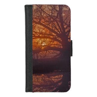 Coque Portefeuille Pour iPhone 8/7 Refection brumeux de lever de soleil