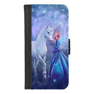 Coque Portefeuille Pour iPhone 8/7 Rhiannon - fée de licorne et de papillon