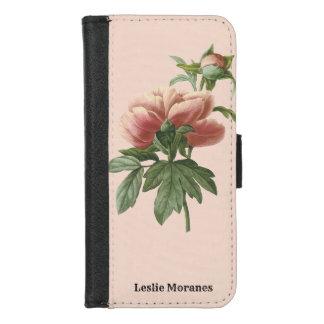 Coque Portefeuille Pour iPhone 8/7 Rose botanique rose élégant personnalisé