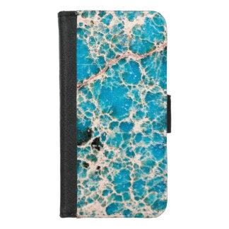 Coque Portefeuille Pour iPhone 8/7 Série de pierre gemme - feuille de route de