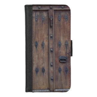 Coque Portefeuille Pour iPhone 8/7 Vieille porte en bois espagnole avec des boulons