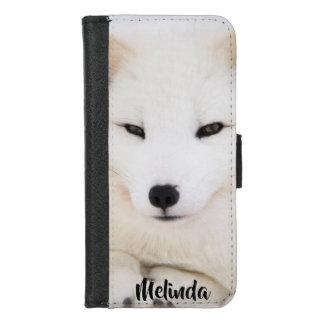 Coque Portefeuille Pour iPhone 8/7 Visage blanc mignon de renard arctique vous