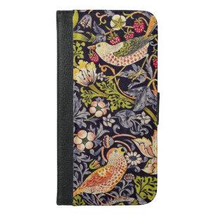 Coque Avec Portefeuille Pour iPhone 6 Plus Art floral Nouveau de voleur de fraise de William