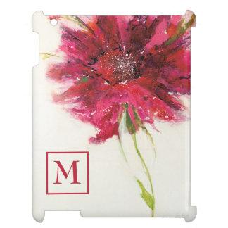 Coque Pour iPad Ajoutez votre marguerite rose du monogramme   sur