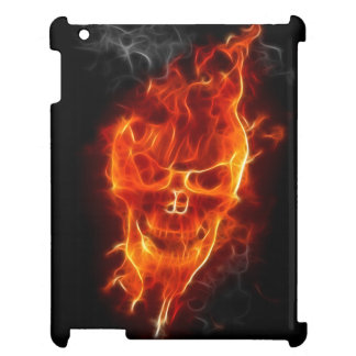 Coque Pour iPad Crâne en flammes