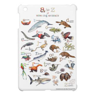 Coque Pour iPad Mini A-Z des animaux extraordinaires