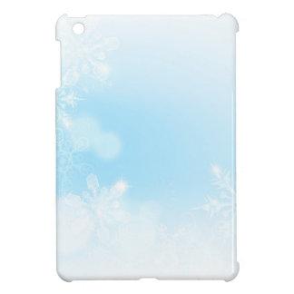 Coque Pour iPad Mini Arrière - plan de flocons de neige de Noël