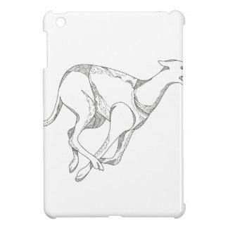 Coque Pour iPad Mini Art de griffonnage de fonctionnement de lévrier