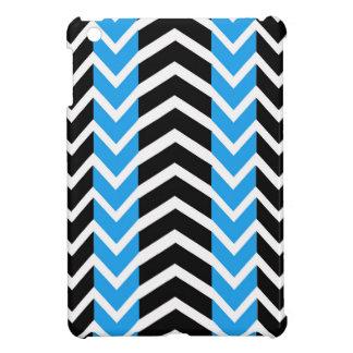 Coque Pour iPad Mini Baleine bleue et noire Chevron