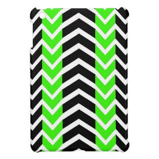 Coque Pour iPad Mini Baleine verte et noire Chevron