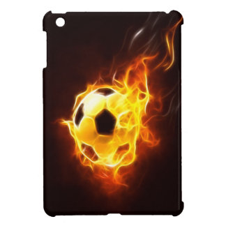 Coque Pour iPad Mini Ballon de football dans cas d'iPad de flammes le