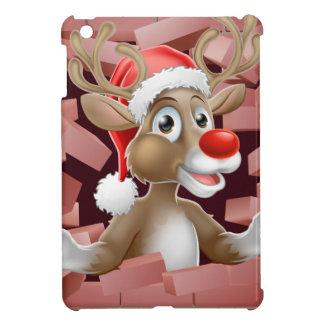Coque Pour iPad Mini Bande dessinée de renne de casquette de Père Noël