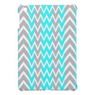 Coque Pour iPad Mini Bleu au néon avec les ailerons gris